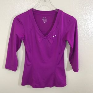Nike Dri-fit 3/4 Sleeve Workout Top